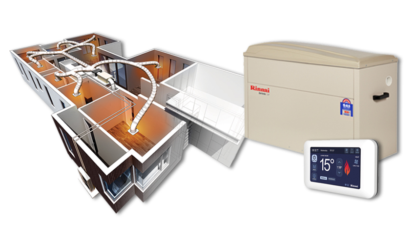 rinnai ducted gas heating